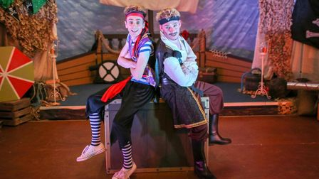 Alex Morley and Robbie James in the Swashbuckling Pirate Adventure Show. Photo: Alex Morley Producti