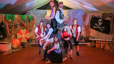 The cast of the Swashbuckling Pirate Adventure Show, which runs next month at the Coronation Hall, M