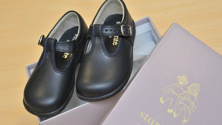 After Prince George was pictured in a pair of Star-Rite shoes(pictured) at the weekend interest for