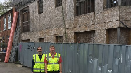 Akis Chrisovelides and Mark Bailey have bought a neglected property on Rosary Road, Norwich. PHOTO: