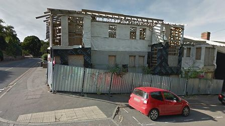 An eyesore on Rosary Road, Norwich, will finally be transformed into flats. Picture: Google Maps