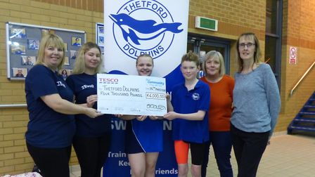 The donations to Thetford Dolphins swimming club helped it to buy a new sound system. Picture: THETF