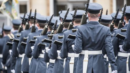 The troops at RAF Marham exercise their Freedom of the Borough at West Norfolk. Picture: Matthew Ush