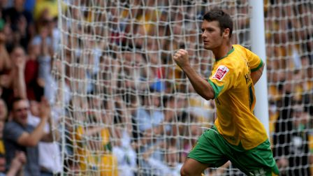 Wes Hoolahan celebrates his goal in a 2-2 draw against Charlton in 2009. Picture: Archant