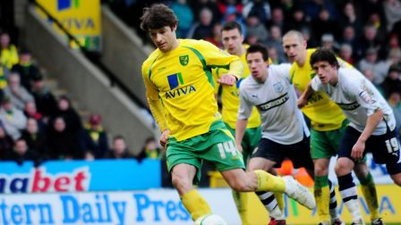 Wes Hoolahan misses a crucial penalty against Preston. Picture: Archant