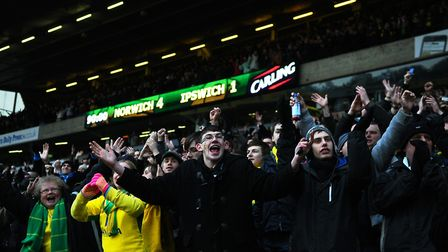 Wes Hoolahan put the gloss on a famous 4-1 win against Ipswich Town. Picture: Archant