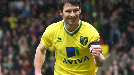 City legend Wes Hoolahan, celebrating an FA Cup goal against Leicester in 2012, is likely to wear th