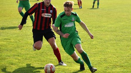 Sean Perfect opened the scoring for Gorleston. Picture: DAVID HARDY