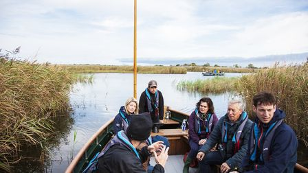 CANAPE partners visit Hickling Broad. Picture: Broads Authority