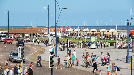 A busy Marine Parade in Great Yarmouth. Picture: James Bass
