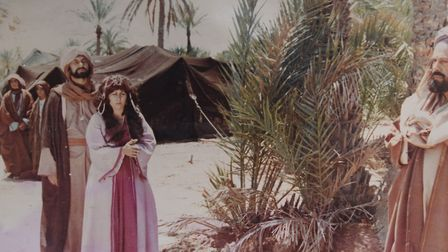Afrah Alwassiti acting in a TV drama production. Picture: Courtesy of Afrah Alwassiti