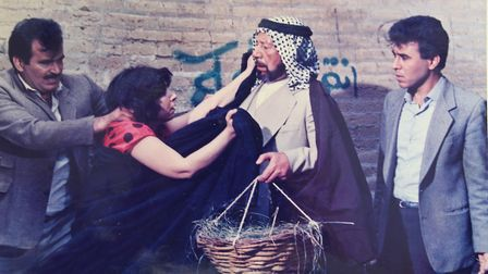 Afrah Alwassiti acting in a film production. Picture: Courtesy of Afrah Alwassiti