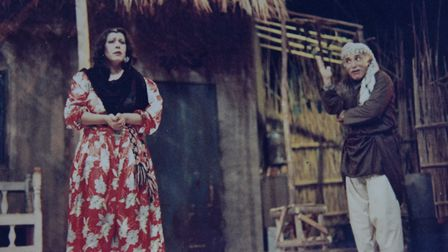 Afrah Alwassiti acting in a theatre production. Picture: Courtesy of Afrah Alwassiti