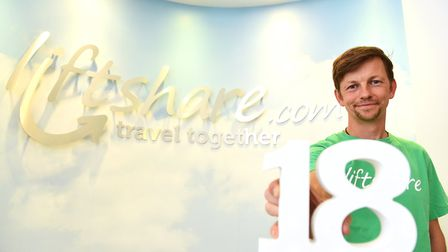 Liftshare founder Ali Clabburn, as the firm celebrated its 18th birthday in 2016. Picture: James Bas