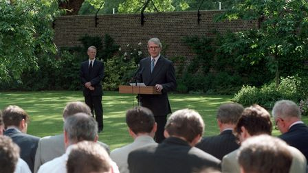 John Major holds a hasty news conference in the rose garden in 1995Photo: PA / Stefan Rousseau