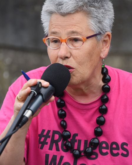 Mary Littlefield of Norwich Stand Up To Racism. Picture: DENISE BRADLEY