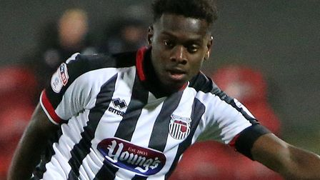 Norwich City youngster Diallang Jaiyesimi in loan action for Grimsby. Picture: GTFC.co.uk