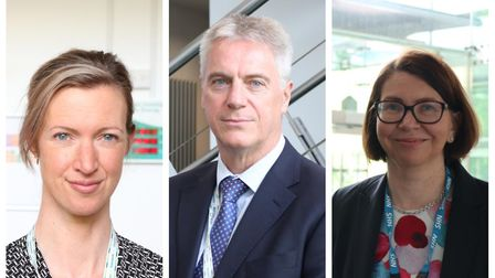 Lizzy Firman, Tom Spink, and Alison Wigg who have joined East of England Ambulance Trust (EEAST) as