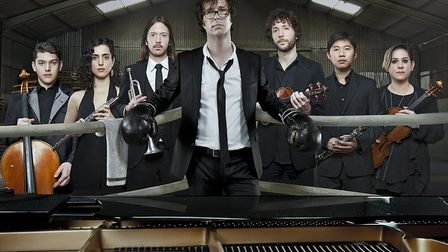 Ben Folds with his more recent work with classical msuicians. Photo: Allan Amato