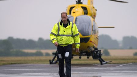 The Duke of Cambridge worked for the East Anglian Air Ambulance Picture: Stefan Rousseau/PA Wire