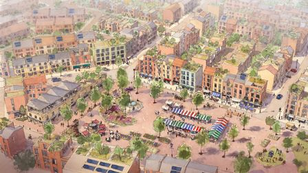 An artist's impression of the Beeston Park project Pic: Archant Library.