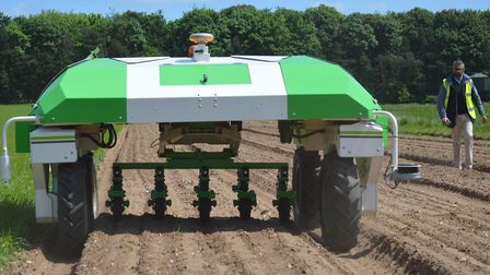 The Dino autonomous weeding robot was trialled for the first time in the UK at a farm in Breckland.