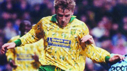 Lee Power, now chairman of Swindon Town, scored 10 goals in 39 games for Norwich. Picture: Archant l