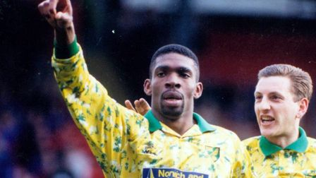 Efan Ekoku will be a non-playing supporter of the City legends against Inter. Picture: Archant libra