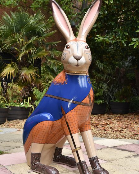 Boudicc'Hare is revealed by The Friends of Iceni.Byline: Sonya DuncanCopyright: Archant 2018