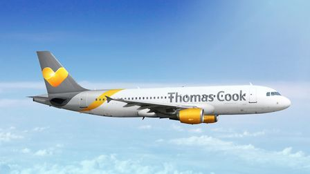 A Thomas Cook Airlines aircraft in flight. Picture: Thomas Cook