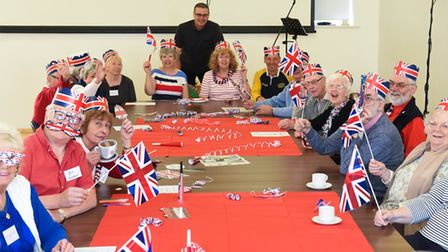 Sprowston Dementia Cafe celebrating the Royal Wedding witha indoor 'street party' at the Diamond Cen