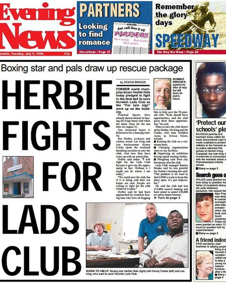 Former world champion boxer Herbie Hide pledged to fight to the final bell to save Norwich Lads Club