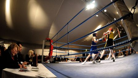 Norwich Lads Club boxers in action. Picture: Archant