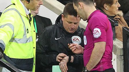 David 'Spud' Thornhill took over as fourth official during City's draw with Preston at Carrow Road t