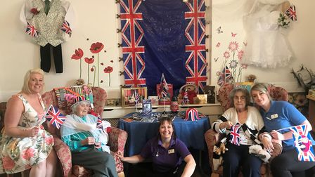 Residents and staff at Thorp House care home are readying themselves for the Royal Wedding. Pictured