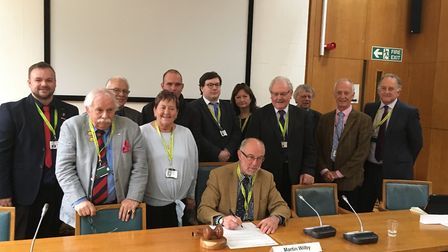 Members of Norfolk County Council's environment, development and transport committee co-sign a lette
