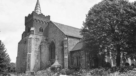 Churches - CPlaces - CCostessey church.Dated 15th June 1979Photograph C3442