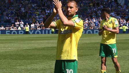 Moritz Leitner waves goodbye to the Norwich City fans as his loan ends, but will he return next seas