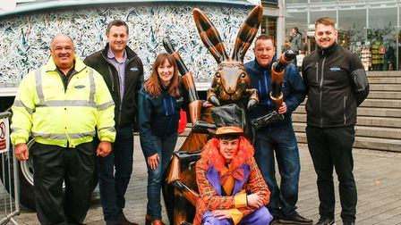 Harey Spider, an eight-legged GoGoHare designed by artist Ross White and sponsored by Shred Station,