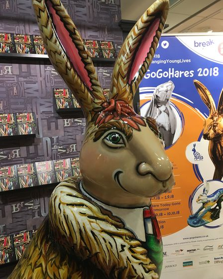 The GoGoHare Mr Harebean was unveiled at a special event at Jarrold. Mr Harebean has been designed b