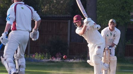 Luke Caswell hits the final boundary of the game to set up Fakenham's Carter Cup win over Norwich o