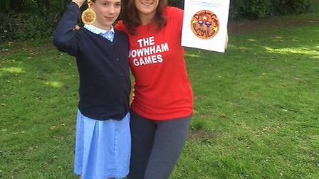 Molly with Frances Rayner and her winning design. Picture: Frances Rayner