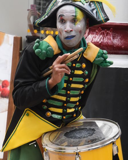 The Transe Express drummers at Norwich Railway Station to launch the Norfolk and Norwich Festival 20