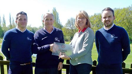 Pictured from left to right at Bawburgh Golf Club are Jamie Goose, operations manager; Robert Barnar
