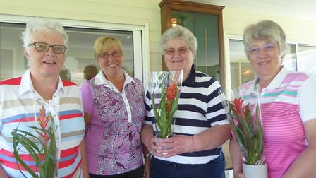 Winners of Richmond Park Ladies' charity competition Annie Long, Ann Achilles and Margaret Broadbent