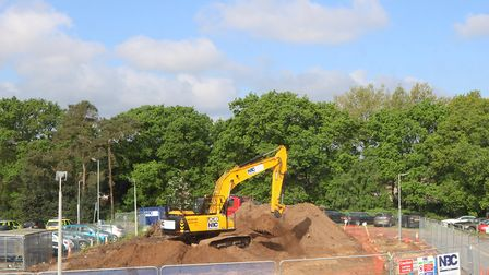 Work under way at the hospital. Picture: QEH