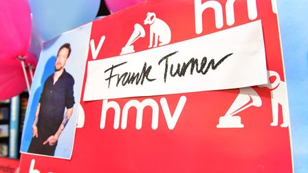 Musician Frank Turner plays to his fans inside the Norwich Chapelfield HMV store.Picture: Nick Butch