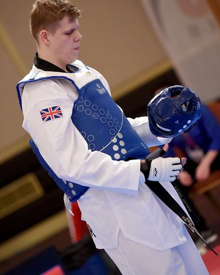 Jack Spall, rising star of martial art Taekwondo and member of the Team GB team. Photo provided by G