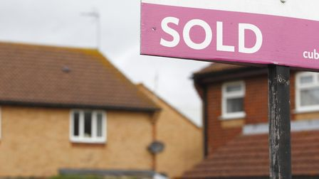 An estate agent's 'Sold' sign outside a property. Photo: Chris Ison/PA Wire