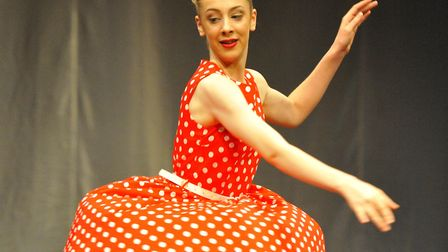 Dancing at the Auden Theatre in Holt as part of the Cromer and North Norfolk Festival of Music, Danc